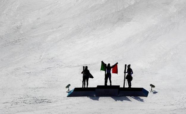 Il podio di PyeonChang (Ansa)