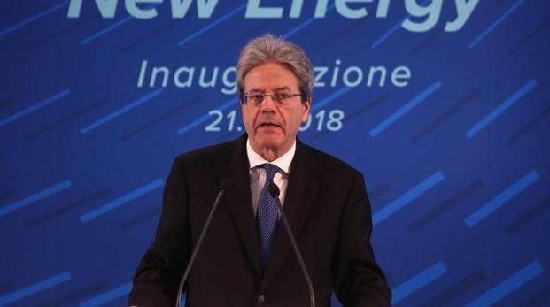 Il premier Paolo Gentiloni all'inaugurazione (Lapresse)