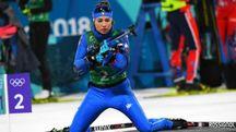 Wierer nella staffetta di Biathlon (LaPresse)