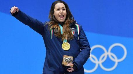 Sofia Goggia, medaglia d'oro nella discesa alle Olimpiadi invernali (LaPresse)