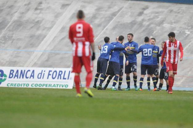 Il gol del 2-2 (foto Frasca)