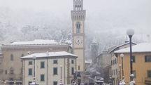 Neve a Santa Sofia, nel Forlivese (foto Bandini)