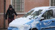 Neve sulle auto (foto Ravaglia)