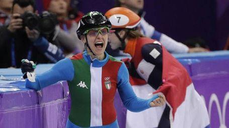 Olimpiadi invernali 2018, Arianna Fontana medaglia di bronzo (foto Ansa)