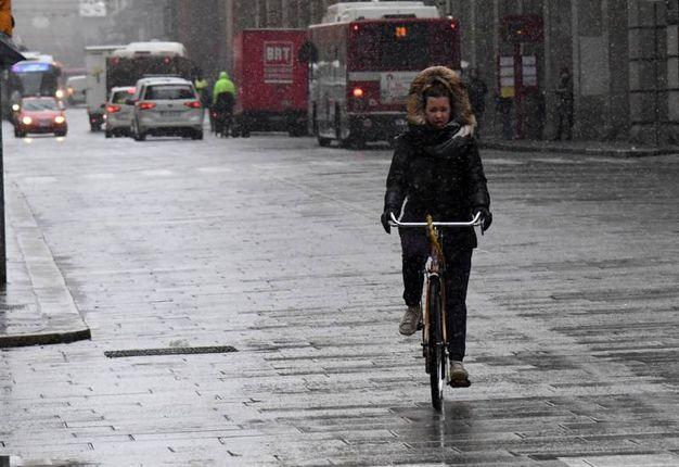 Neve in città (Foto Schicchi)