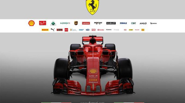 La nuova Ferrari SF71H (Ansa)