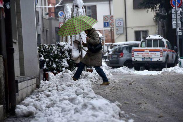 Si fatica anche a piedi (Foto Fantini)