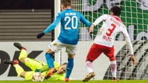 Il gol del momentaneo 1-0 siglato da Zielinski