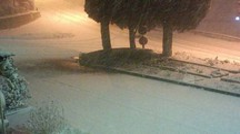Neve a Castelnuovo Valdicecina (Foto Riccardo Gherardini)