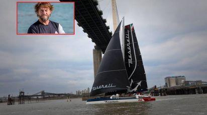 Giovanni Soldini, record del mondo Hong Kong-Londra su Maserati Multi 70