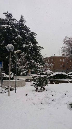 Neve a Casola Valsenio (foto di Nicola Iseppi)