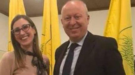 Francesca Ferrari e il direttore Maurizio Fantini