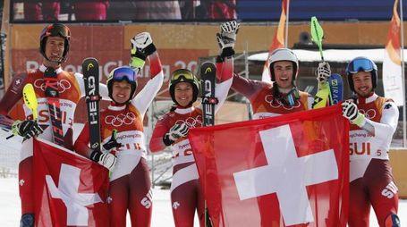 La Svizzera vince il Team Event (Ansa)