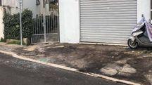 Il punto dove era parcheggiata l'Auto (foto De Marco)