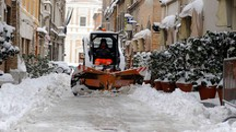 Neve a Macerata (foto d'archivio)