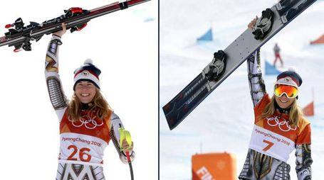 Ester Ledecka: oro in SuperG e oro in snowboard (combo)