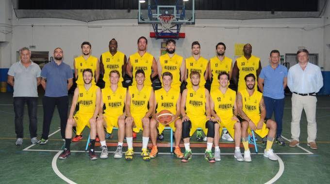 La squadra di basket Bionics nella quale gioca Joao Kisonga