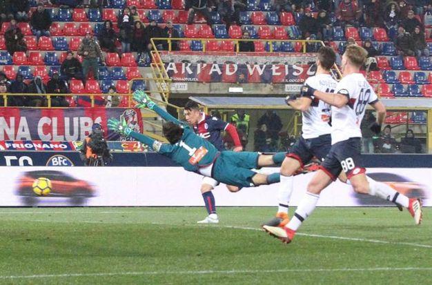 Bologna-Genoa 2-0, Falletti (Ansa)