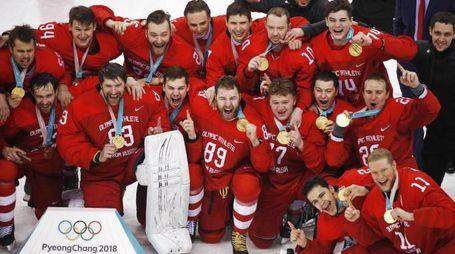 La Russia vince l'oro nell'hockey alle Olimpiadi invernali 2018 (Ansa)