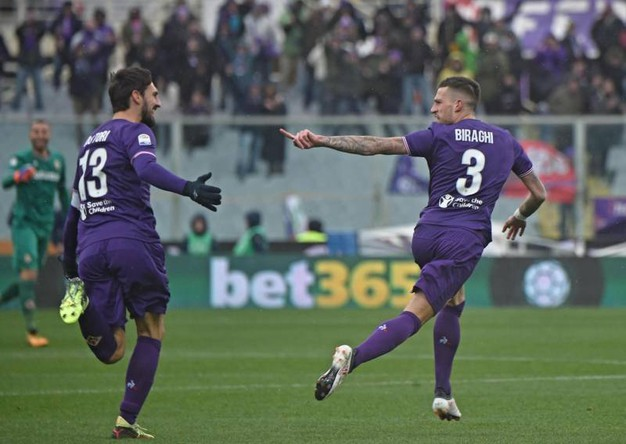 Fiorentina-Chievo 1-0, Biraghi (Ansa)