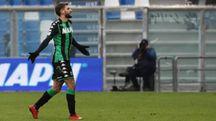 Domenico Berardi lascia il campo (foto Ansa)