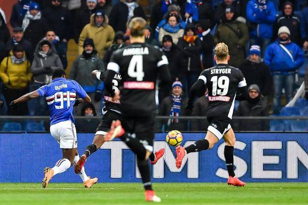 Sampdoria-Udinese 2-0, Zapata (Ansa)
