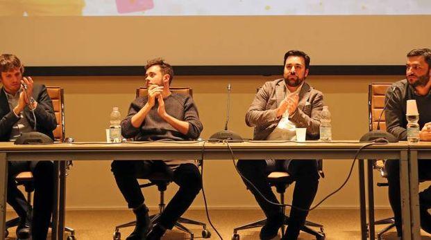 Luca Cavina con Mattia Alberani, Massimiliano Mascia, Alberto Dalmasso