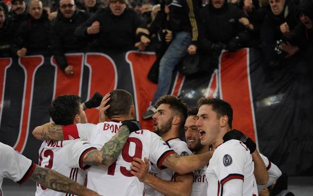 Roma-Milan 0-1, Cutrone (Lapresse)