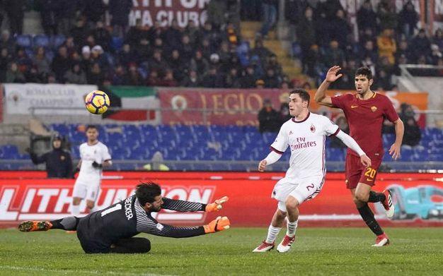 Roma-Milan 0-2, Calabria (Lapresse)