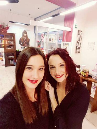 Silvia Balleri e Martina ( Silvia Hairstyle, piazza delle Carrozze 21 )