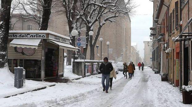 Il centro di Fano sotto la neve (Fotoprint)