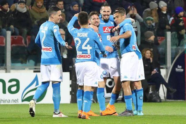 Cagliari-Napoli 0-3, Hamsik (Ansa)