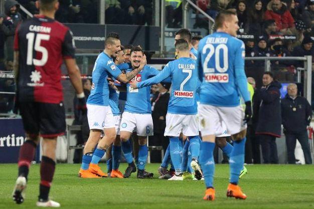 Cagliari-Napoli 0-5, Rui (Ansa)
