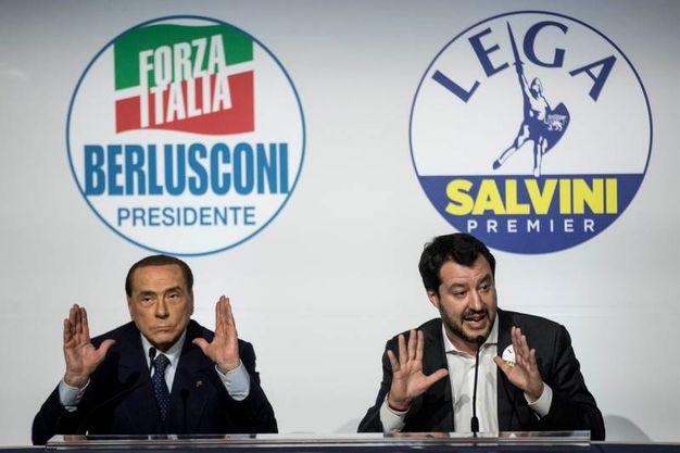 Silvio Berlusconi e Matteo Salvini (Lapresse)