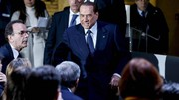 L'arrivo di Berlusconi (Ansa)