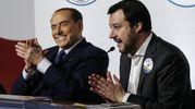 Berlusconi applaude Salvini (Ansa)
