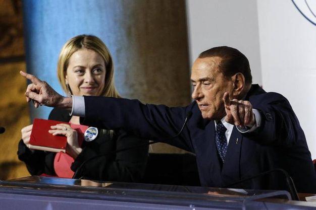 Meloni e Berlusconi (Ansa)