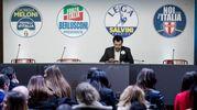 Salvini il primo ad arrivare (Lapresse)
