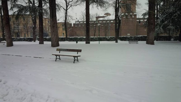 Neve ai Giardini Margherita a Bologna (foto di Alessandra Arcangeli)
