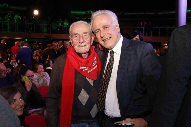 A destra Eugenio Giani (foto Marco Mori/New Pressphoto)
