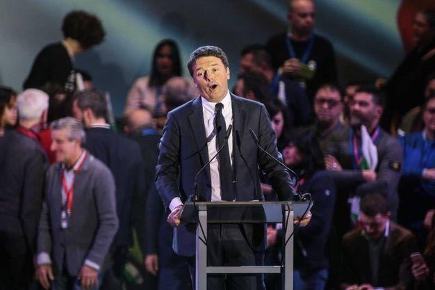 Matteo Renzi all'ObiHall (foto Giuseppe Cabras/New Pressphoto)