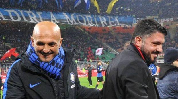 Luciano Spalletti e Gennaro Gattuso