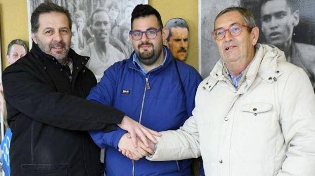 Da destra il presidente Giuseppe Gallo Stampino, Marco Ascari e Walter Brambilla