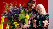 Vivienne Westwood con il marito Andreas Kronthaler (Lapresse)