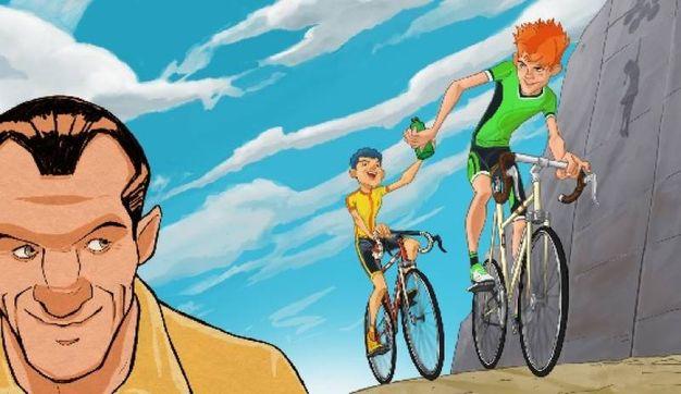 """Un'immagine della """"Bicicletta di Bartali"""""""