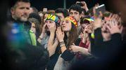 Fan in delirio sabato sera all'Rds Stadium per il primo dei tre concerti a Rimini (si replica stasera e martedì) di Lorenzo live 2018, il nuovo tour di Jovanotti (Foto Petrangeli)