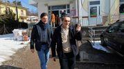 Il candidato presidente della Lombardia Attilio Fontana vota nel seggio di Velate