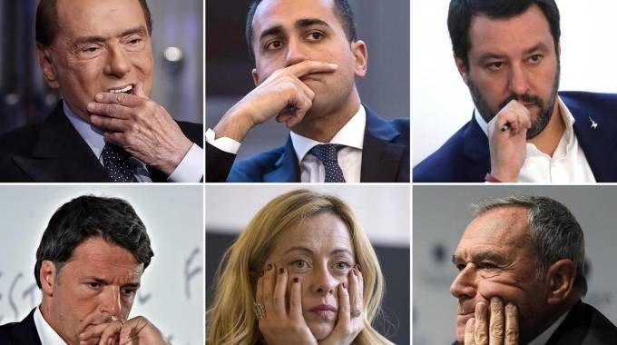 Elezioni 2018, i leader politici (Ansa)