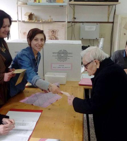 L'ultracentenaria Rosa Ercoli, 107 anni (foto Zeppilli)