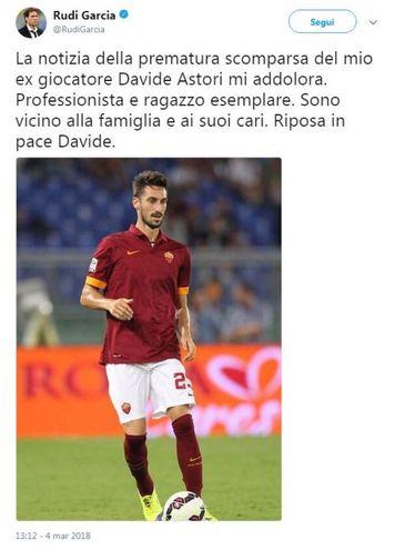 Il tweet di Rudi Garcia
